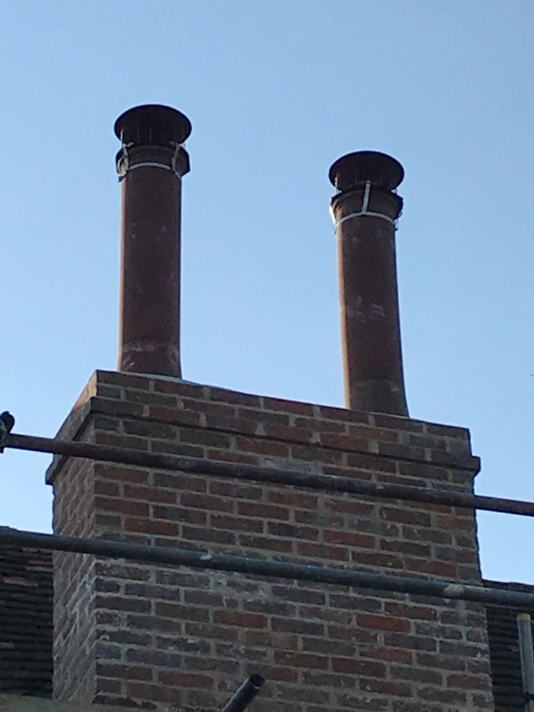 Lime and Cement Chimney Rebuild