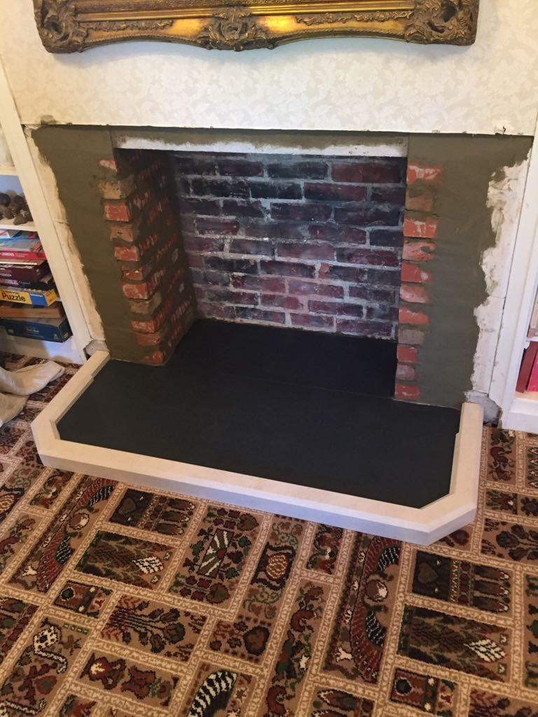 Rebuilding fire surround for stove fitting