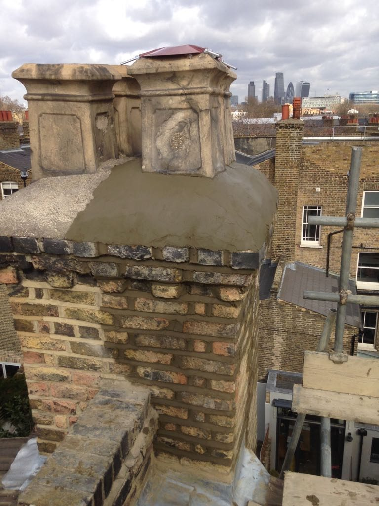 Restored chimney stack
