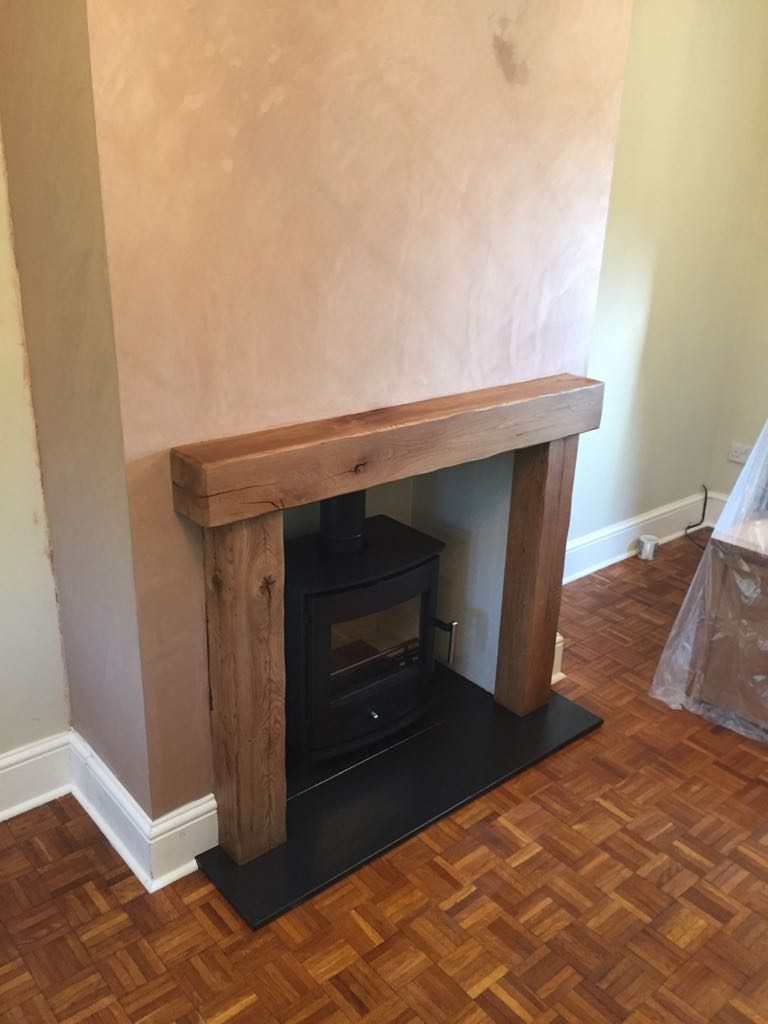 Stove, flue, and chimney breast completed
