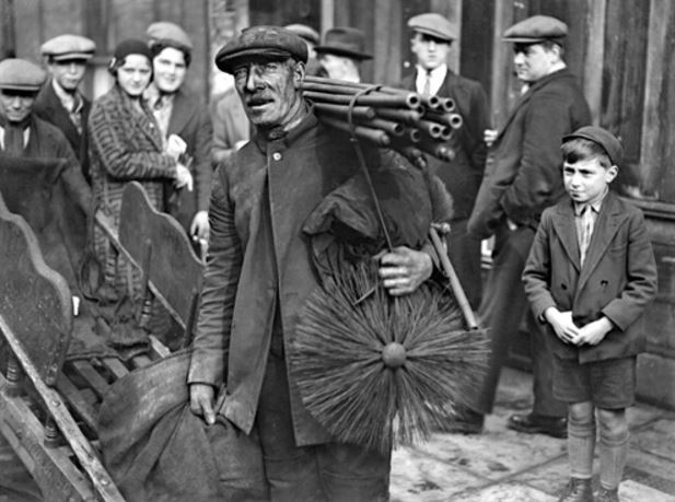 Tom Brooks, Grandfather to the White family and Mayor of Bethnal Green, photographed in East London circa 1931-32. The first in a long line of chimney sweeps in our family business.